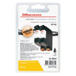 Office Depot Compatible HP 45 Black Ink Cartridge Twin Pack