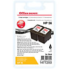 Office Depot Compatible for HP 56 Black Ink Cartridge C9502AE