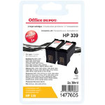 Office Depot Compatible HP 339 Black Ink Cartridge Twin Pack