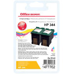 Office Depot Compatible HP 344 Colour Ink Cartridge Twin Pack