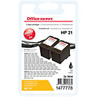 Office Depot Compatible HP 21 Black Ink Cartridge Twin Pack
