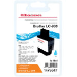 Office Depot Compatible Brother LC900C Cyan Inkjet Cartridge