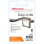 Office Depot Compatible Brother LC1000BK Black Inkjet Cartridge