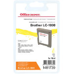 Office Depot Compatible for Brother LC 1000Y Yellow Ink Cartridge