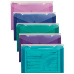 Snopake Trio Polyfiles Assorted Foolscap Pack of 5