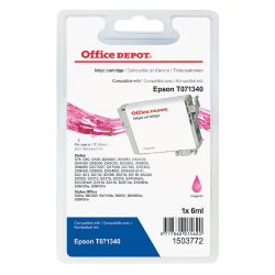 Office Depot Compatible for Epson T0713 Magenta Ink Cartridge T071340