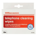 Office Depot Telephone Cleaning Wipe Sachets 50 Per Pack