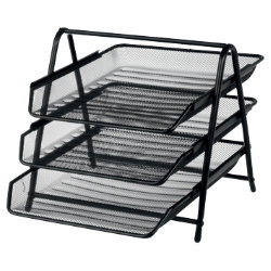 Office Depot Executive Mesh 3 Tier Letter Tray Black