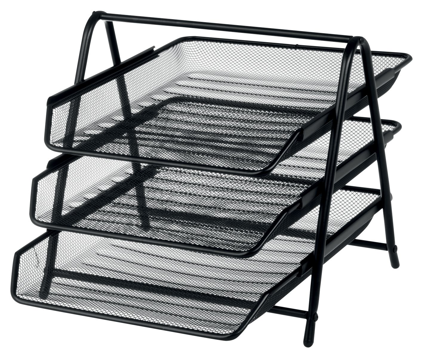 Design Ideas Mesh Letter Tray: Office Depot Executive Mesh 3 Tier Letter Tray - Black