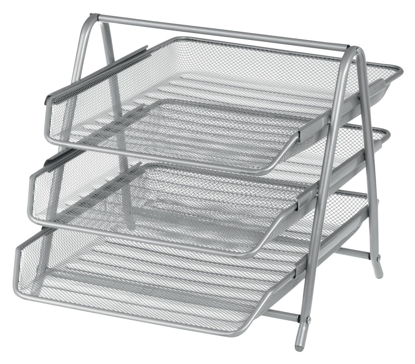 Design Ideas Mesh Letter Tray: Office Depot Executive Mesh 3 Tier Letter Tray - Silver