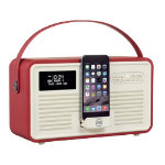View Quest DAB  Radio with Bluetooth Retro Radio MKII Red