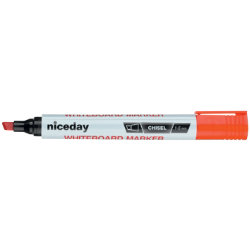 Niceday Whiteboard Markers Chisel Tip 13mm Red Pack of 12