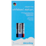 Niceday Whiteboard Markers Chisel Tip 13mm Assorted Pack of 4