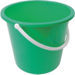 10L Plastic Bucket With Handle Green