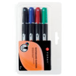 Foray Whiteboard Bullet Point Pens Black Blue Red Green 4 pk
