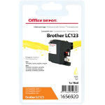 Office Depot Compatible for Brother LC 123 Yellow Ink Cartridge LC126