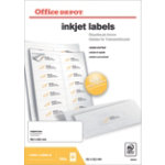 Office Depot Inkjet Labels H381xW991 14 Sheet 1400 Pk