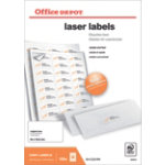 Office Depot Laser Labels 1658732 White 2400 Labels per pack Box 100