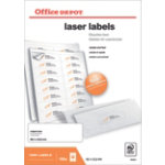 Office Depot Laser Labels White 1600 Labels per pack Box 100