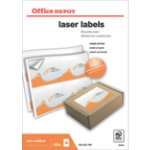 Office Depot Rounded Laser Labels H991xW139 4 Sheet 400 Pk