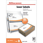 Office Depot Laser Labels White 200 Labels per pack Box 100