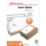 Office Depot Laser Labels White 100 Labels per pack Box 100