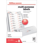 Office Depot Square Multi purpose Labels H37xW105mm 16 Sheet 1600 Pk