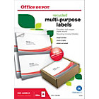 Office Depot square cornered Multi purpose Labels H148xW210mm 2 Sheet 200 Pk