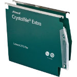 Rexel Crystalfile Extra Lateral 275mm Files Standard Capacity Green Box 25