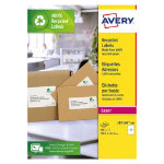 Avery Recycled Laser Addressing Labels H1435xW1996mm 2 Sheet 200 Pk