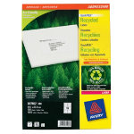 Avery Recycled Laser Addressing Labels H339xW991mm 16 Sheet 1600 Pk