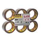 Scotch Classic Packaging Tape Brown 43 50 mm x 66 m Pack 6