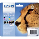 Epson T0715 Original Ink Cartridge C13T07154012 Black 3 Colours Pack 4