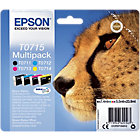 Epson T0715 Original Ink Cartridge C13T07154012 Black 3 Colours Pack 4