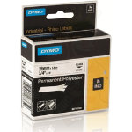 Dymo Rhino Labels Black on White 19mm x 55m Permanent Polyester