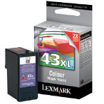 Lexmark 43XL Original 3 Colours Ink Cartridge 18YX143E