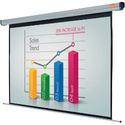 Acco Nobo Electric Plug N Play Projector Screen 1800mm