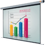 Acco Nobo Electric Plug N Play Projector Screen 2400mm