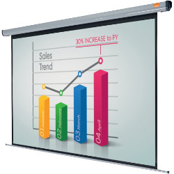 Acco Nobo Electric Plug N Play Projector Screen 3000mm