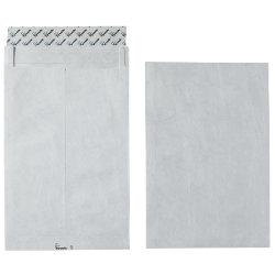 Tyvek extra strong plain white pocket envelopes 330 x 250 mm 100 per box peel and seal