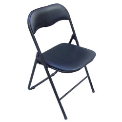 RS To Go Economy Steel Fram Folding Chair PVC Black
