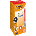 Bic M10 Clic Medium Ballpoint Red Pack of 50