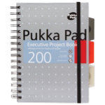 Pukka Metallic Executive Project Book A5 Assorted Blue Silver and Pink   Pack of 3