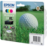 Epson Original Toner Cartridge C13T34764010 Black 3 Colours Pack 4