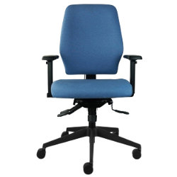 Universal ready assembled office operators chair  blue fabric