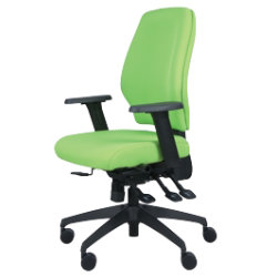Universal ready assembled office operators chair  lime green fabric