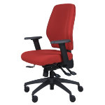 Universal ready assembled office operators chair burgundy fabric