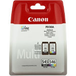 Canon PG 545 546 Black and Tri colour Ink Cartridges Twin Pack