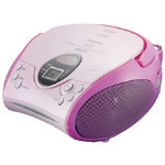 Portable CD radio boombox Pink