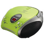 Portable CD radio boombox Green